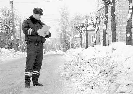 Зауженный участок дороги на улице Ленина