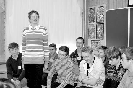Немецкие школьники, приехавшие к нам по международному обмену