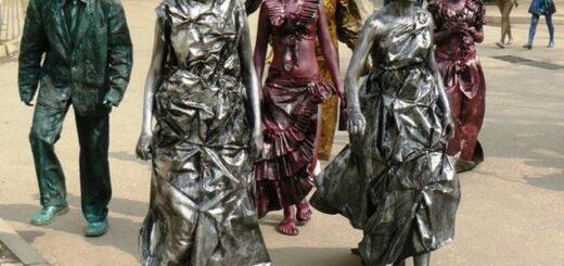 Работа живыми скульптурами