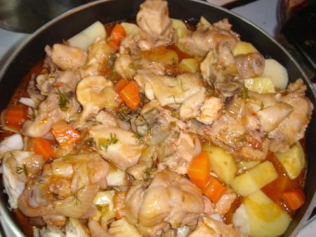 Рагу овощное с курицей